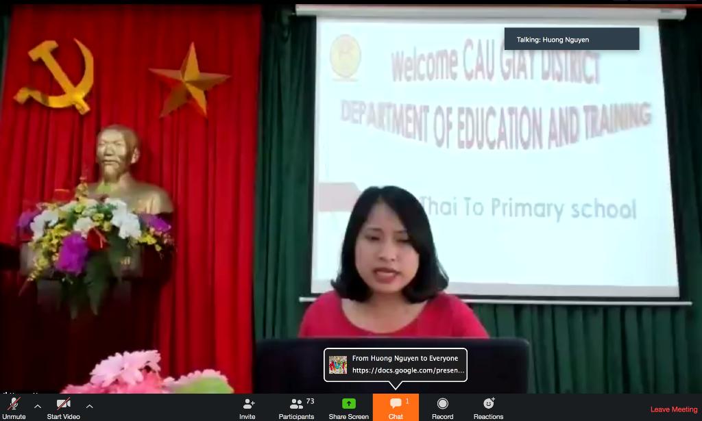 Trường Tiểu học Lý Thái Tổ thực hiện thành công  giờ chuyên đề Tiếng Anh online cấp Quận