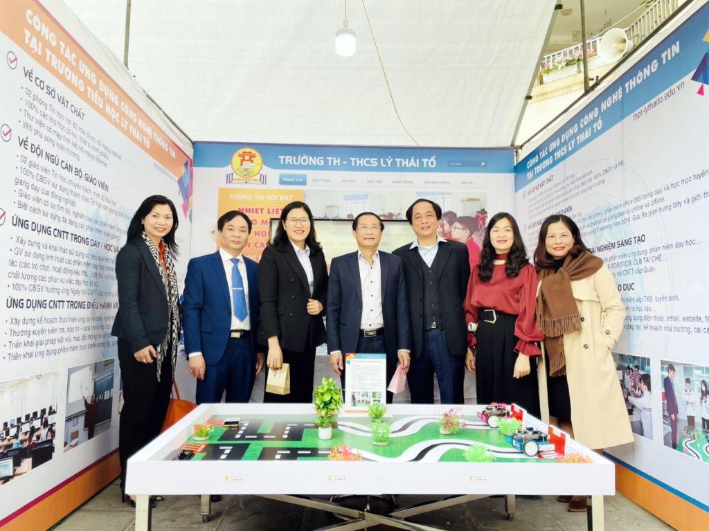 Hệ thống Giáo dục Lý Thái Tổ tích cực tham gia Ngày hội Công nghệ Thông tin quận Cầu Giấy
