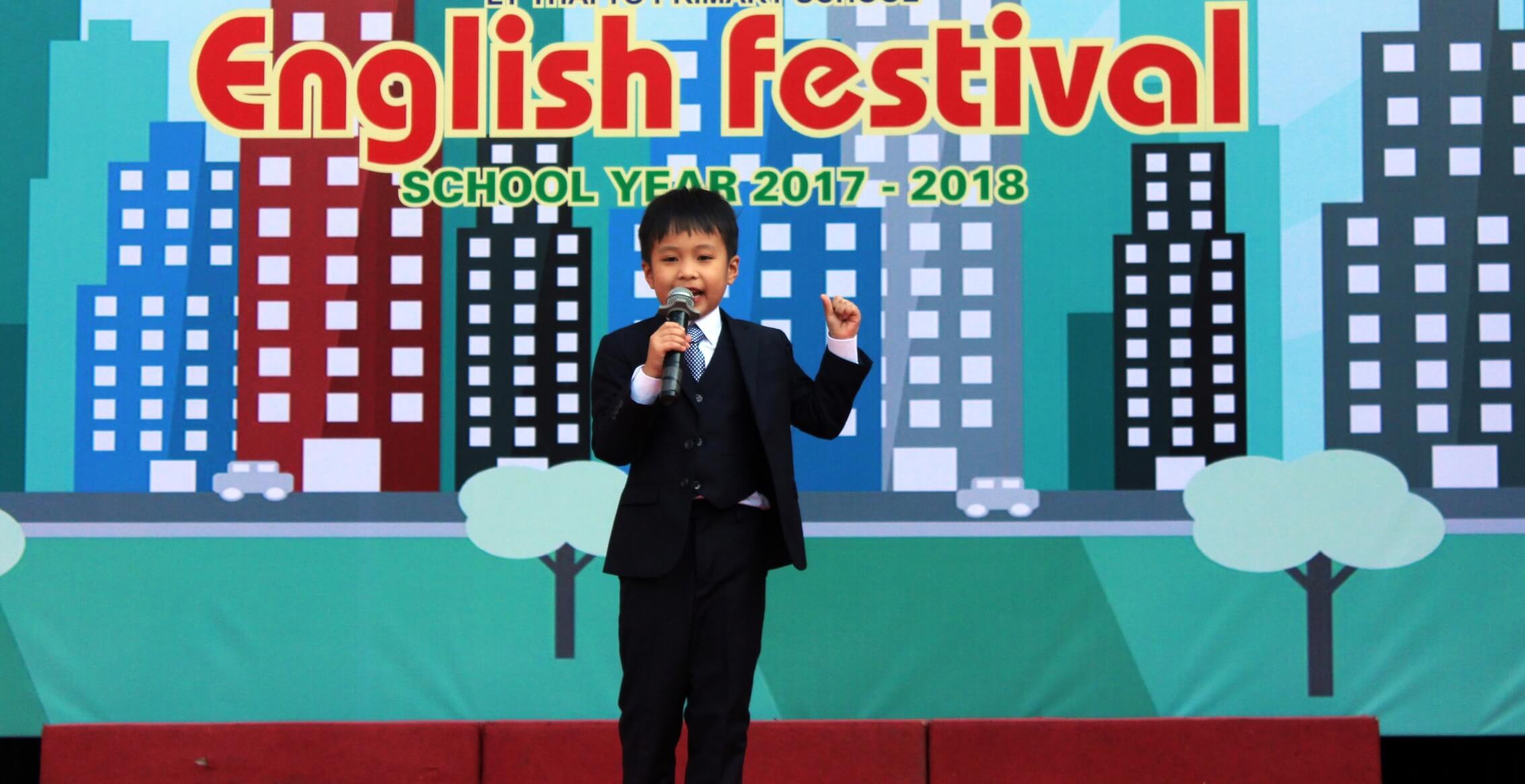 Nguyễn Đình Lộc, lớp 2A1-Giải Nhất Hùng biện tại Festival Tiếng Anh quận Cầu Giấy năm học 2017-2018