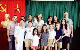 HS nước ngoài hào hứng với trải nghiệm ở trường TH Lý Thái Tổ