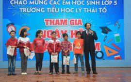 Ngày hội trải nghiệm của học sinh lớp 5 tại trường THCS & THPT Lý Thái Tổ