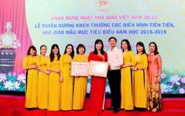 Trường Tiểu học Lý Thái Tổ vinh dự lần thứ tư đón nhận Bằng khen Tập thể lao động xuất sắc cấp thành phố